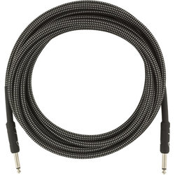 Fender Professional Series Instrument Cable - Straight / Straight, 18.6', Gray Tweed