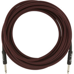 Fender Professional Series Instrument Cable - Straight / Straight, 18.6', Red Tweed