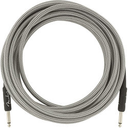 Fender Professional Series Instrument Cable - Straight / Straight, 18.6', White Tweed