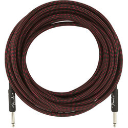 Fender Professional Series Instrument Cable - Straight / Straight, 25', Red Tweed