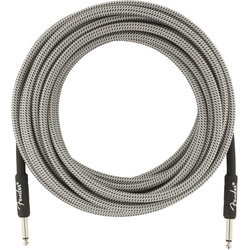 Fender Professional Series Instrument Cable - Straight / Straight, 25', White Tweed