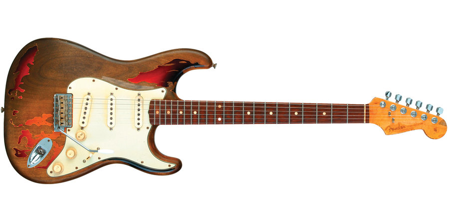 View larger image of Fender Rory Gallagher Signature Stratocaster Relic - Rosewood, 3-Color Sunburst