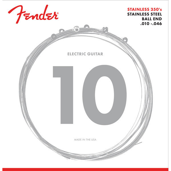 View larger image of Fender Stainless Steel 350s Guitar Strings - Ball End, 10-46