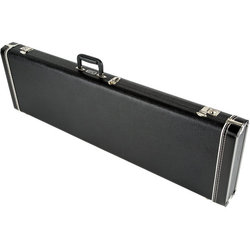Fender Standard Short Scale Bass Hardshell Case - Black with Acrylic Interior