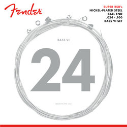 Fender Super 250 Bass VI Strings - Ball End, Nickel Plated Steel, 24-100
