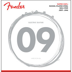 Fender Super 250 Nickel-Plated Steel Guitar Strings - Ball End, 9-46