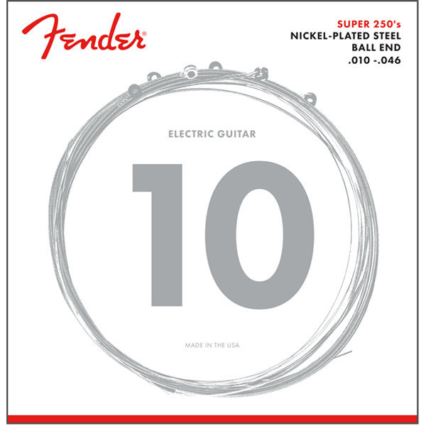 View larger image of Fender Super 250 Nickel Plated Steel Strings - Ball End, 10-46