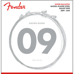 Fender Super Bullets Nickel Plated Strings - Ball End, 9-42
