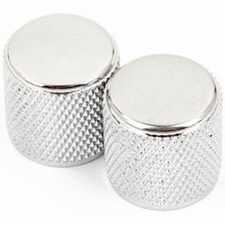 Fender Telecaster Precision Bass Knurled Knobs - Chrome