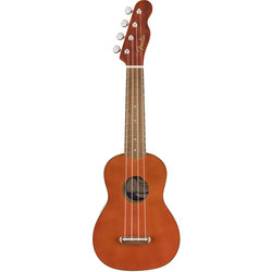 Fender Venice Soprano Ukulele - Walnut, Natural