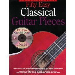Fifty Easy Classical Guitar Pieces w/CD