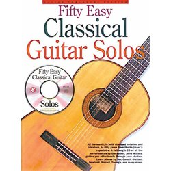 Fifty Easy Classical Guitar Solos w/CD