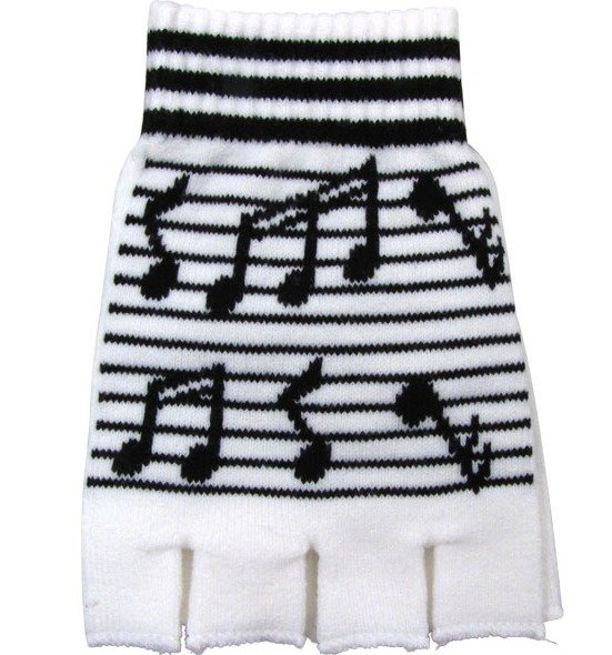 View larger image of Fingerless Gloves with Staff and Black Notes