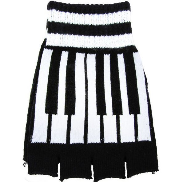 View larger image of Fingerless Piano Key Gloves