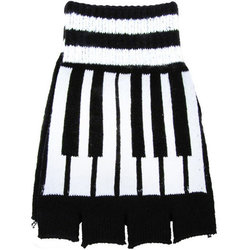 Fingerless Piano Key Gloves