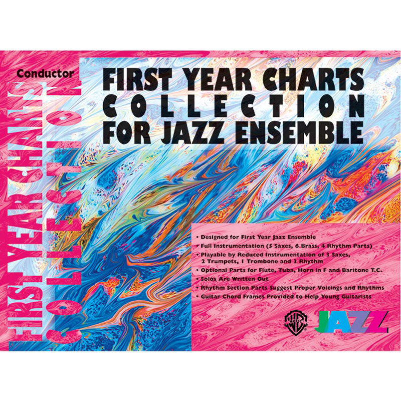 View larger image of First Year Charts Collection for Jazz Ensemble - Score w/CD