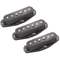 Fishman Fluence Single Width Pickup Set for Strat, Black - 3 Set