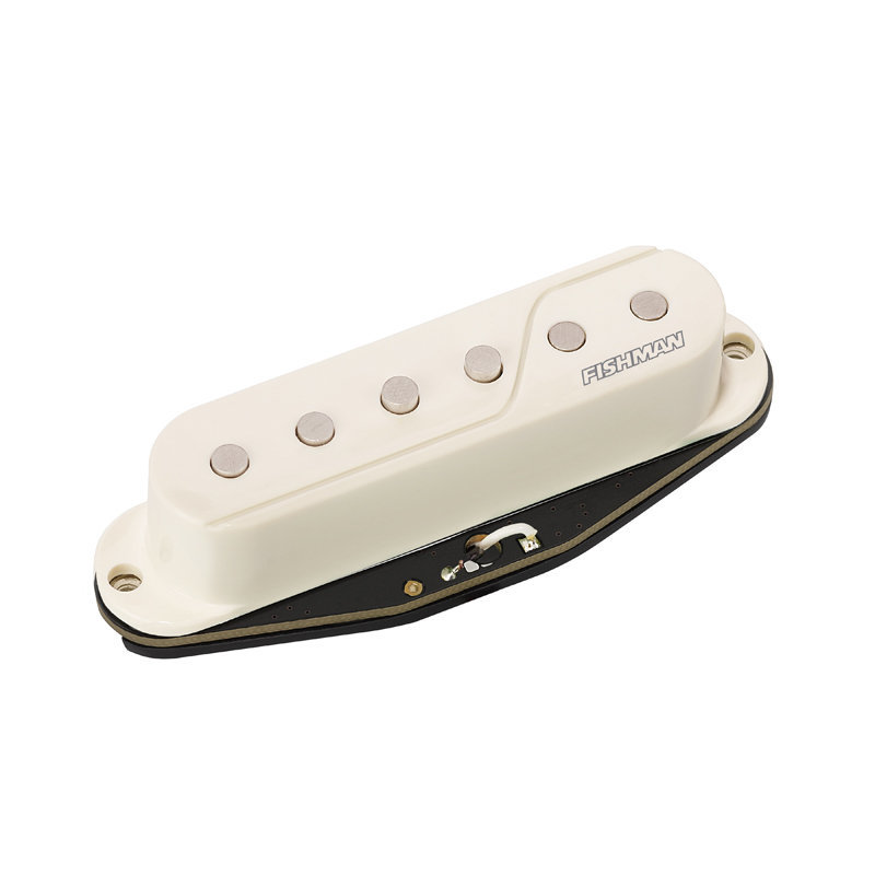 View larger image of Fishman Fluence SS Passive Guitar Pickup - Black/White