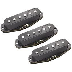 Fishman Fluence Strat Single Coil Guitar Pickups Black - 3 Set