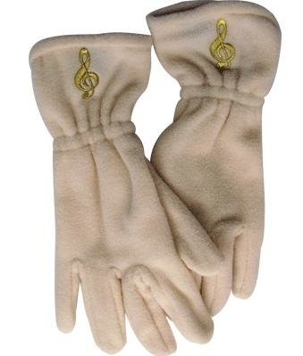 View larger image of Fleece Gloves - G-Clef, Off-White, Small/Medium