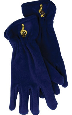 View larger image of Fleece Gloves - G-Clef, Royal, Small/Medium