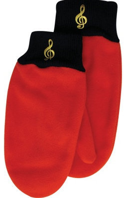 View larger image of Fleece Mittens - G-Clef, Red, Medium/Large