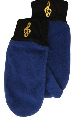 View larger image of Fleece Mittens - G-Clef Royal, Small/Medium