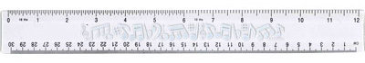 View larger image of Flexible Ruler with Music Notes - Clear