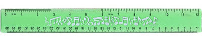 View larger image of Flexible Ruler with Music Notes - Green