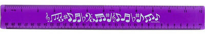 View larger image of Flexible Ruler with Music Notes - Purple