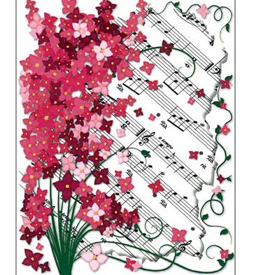 View larger image of Floral Sheet Music Note Cards - 8 Pack