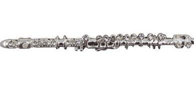 View larger image of Flute Rhinestone Brooch - Silver