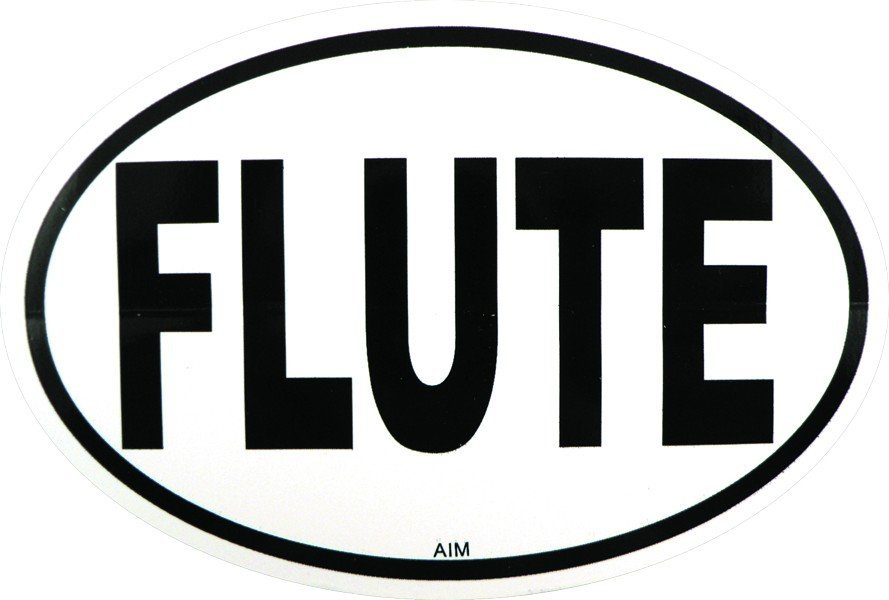 View larger image of Flute Sticker - Oval