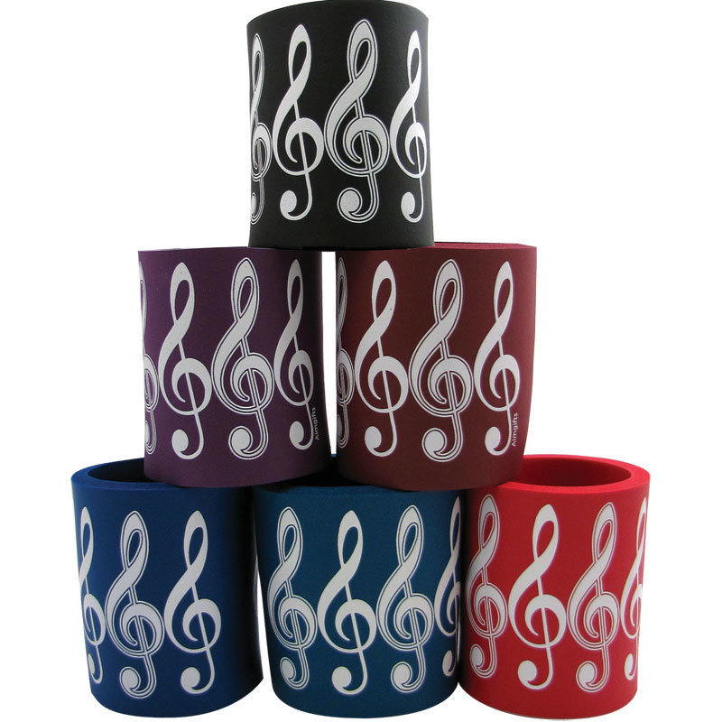 View larger image of Foam Can Coolie - G-Clef Design, Assorted Colours
