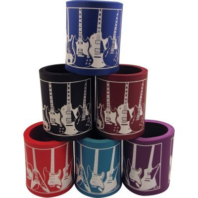 View larger image of Foam Can Coolie - Guitar Design, Assorted Colours