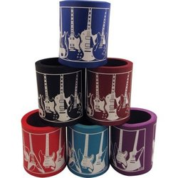 Foam Can Coolie - Guitar Design, Assorted Colours