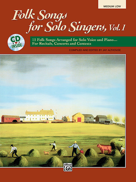View larger image of Folk Songs for Solo Singers, Vol.1 - Med Low w/CD