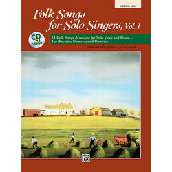Folk Songs for Solo Singers, Vol.1 - Med Low w/CD