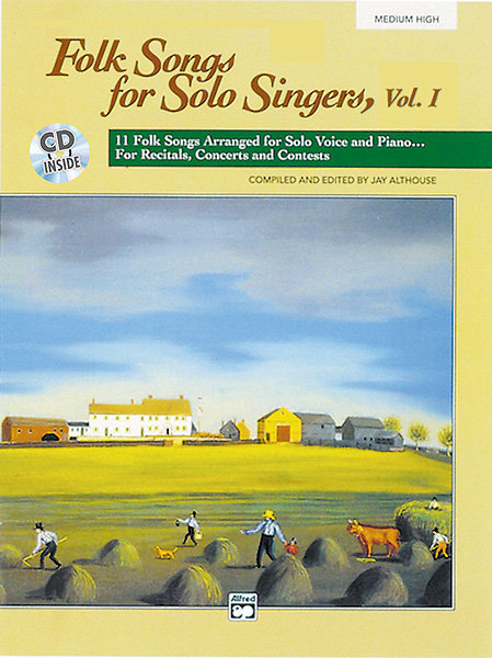 View larger image of Folk Songs for Solo Singers Vol.1 - Medium High w/CD