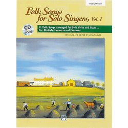 Folk Songs for Solo Singers Vol.1 - Medium High w/CD