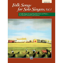 Folk Songs for Solo Singers Vol.1 - Medium Low