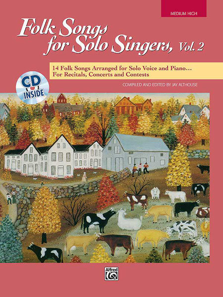 View larger image of Folk Songs for Solo Singers Vol.2 - Medium High w/CD