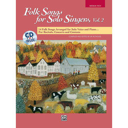 Folk Songs for Solo Singers Vol.2 - Medium High w/CD