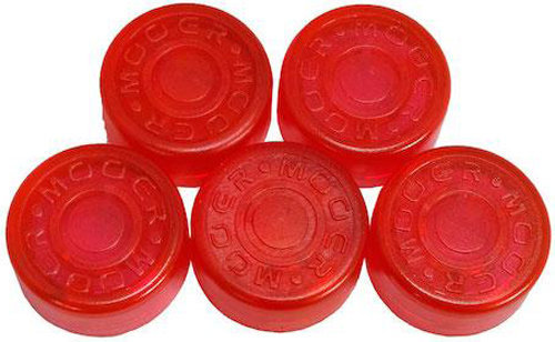 View larger image of Mooer FT-RE Footswitch Toppers - Red, 5 Pack