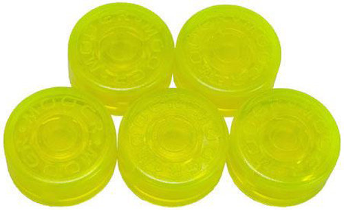 View larger image of Mooer FT-YG Footswitch Toppers - Yellow Green, 5 Pack