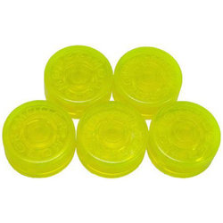Mooer FT-YG Footswitch Toppers - Yellow Green, 5 Pack