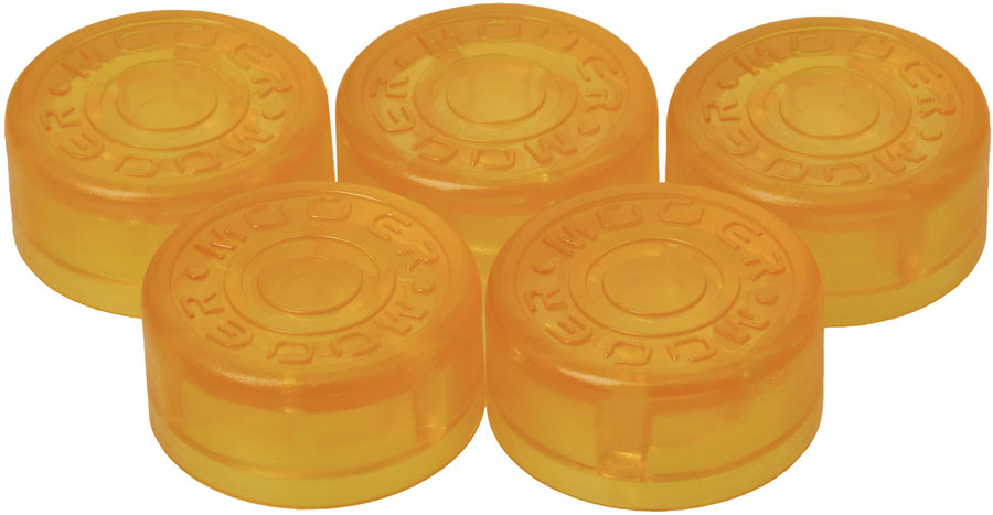 View larger image of Mooer FT-YL Footswitch Toppers - Yellow, 5 Pack