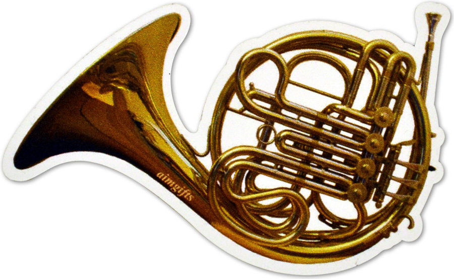 View larger image of French Horn Die Cut Magnet - 4