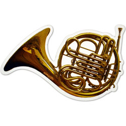 French Horn Die Cut Magnet - 4