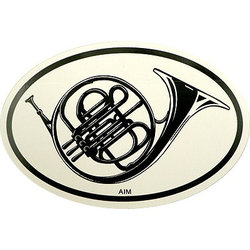 French Horn Sticker - Oval